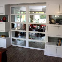foto kamer ensuite gesloten deuren, zicht op keuken