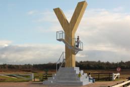 landmark dropzone Y op locatie - projectie
